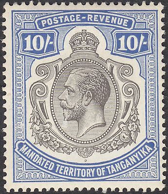 Tanganyika 1927 KGV 10sh Deep Blue and Black Mint SG106 cat £100