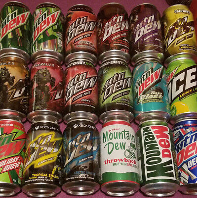 Out of Print MOUNTAIN DEW CANS! PICK YOUR OWN LOT OF UP TO 8 EIGHT! ALL UNOPENED