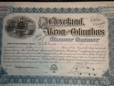 The Cleveland,Akron, & Columbus    Railway Co.  1897  FREE SHIPPING