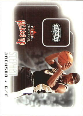 2003-04 Fleer Tradition Heads Up Spurs Basketball Card #4 Stephen Jackson