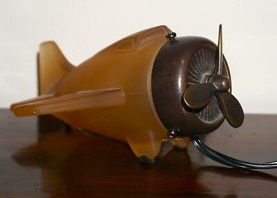 Andrea by Sadek Tin Chi Bronze / Glass Airplane Lamp 2001 AS IT IS