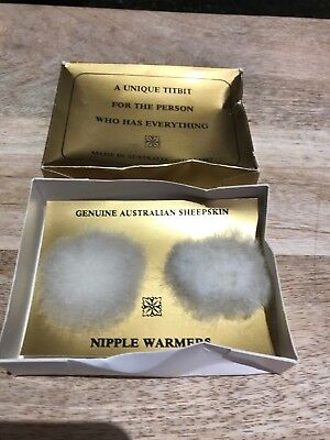 Nipple Warmers-Genuine Australian Sheepskin-New-'For the Person with Everything'
