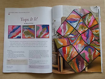 Machine Embroidery & Textile Art Vol 19 #1~Quilts~Dress~Dogs~Placemats~Jacket
