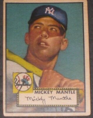 1952 Topps Mickey Mantle Baseball Card 311 Rookie Ny Yankees Read Listing