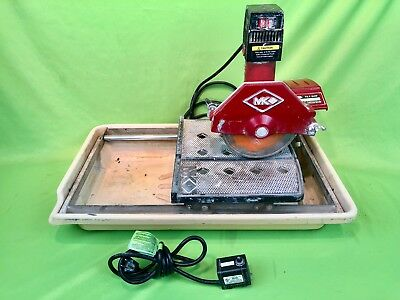 Nice MK Diamond MK-370 Wet Cutting Tile Saw - WORKS GREAT! Includes Pump!