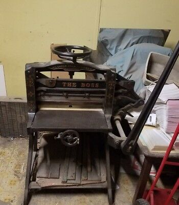 St. Louis Type Foundry Antique Boss Paper Cutter