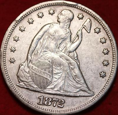 1872 Philadelphia Mint Silver Seated Dollar