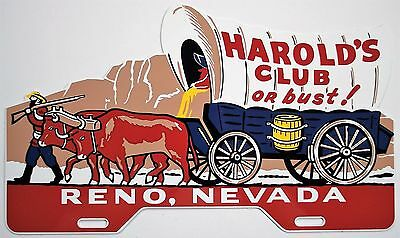 Harold's Club License Plate Topper Nice Reproduction