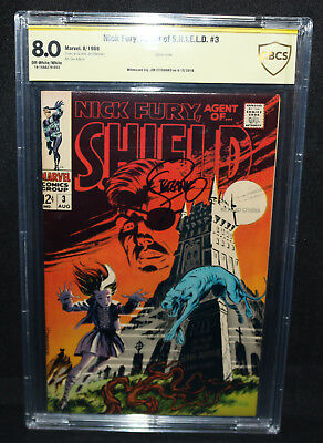 Nick Fury, Agent of S.H.I.E.L.D. #3 - Signed by Jim Steranko - CBCS 8.0 - 1968