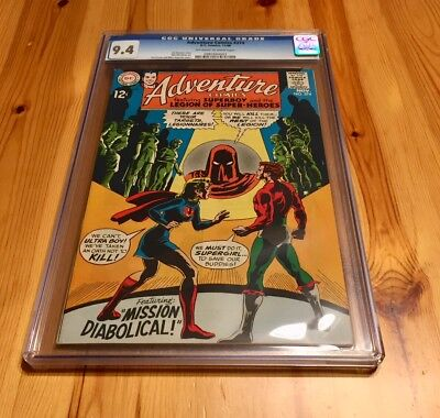 Adventure #374 CGC 9.4 NM, OW/W, Superboy and Legion of Super-Heroes!