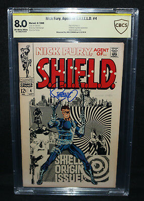 Nick Fury, Agent of S.H.I.E.L.D. #4 - Signed by Jim Steranko - CBCS 8.0 - 1968