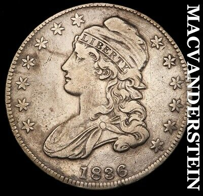 1836 Capped Bust Half Dollar- O-121 R4 !! Semi-Key !! Better Date !! #h6275