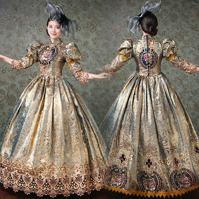 Women Medieval Marie Antoinette Rococo Victorian Dress Mary Colonial Costume