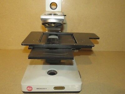 ++ Leitz Secolux-T  Microscope Stand W/ Xy Table & Objective Turret (Ls1)