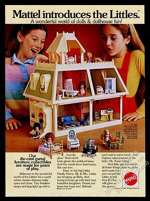 1981 Mattel Littles home doll house color photo vintage print ad