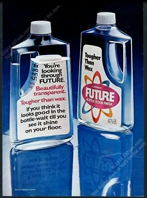 1973 Future floor finish cool clear bottle photo vintage print ad