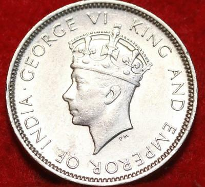 1937 Hong Kong 10 Cents Silver Foreign Coin