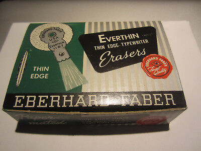 Vintage Lot Of Eberhard Faber No. 1187 Everthin Typewriter Erasers 1 Dozen