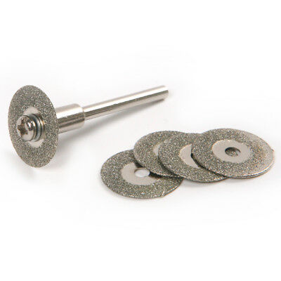 5pcs 16mm Diamond Cutting Disc Blade with 2 Mandels for Rotary Grinder