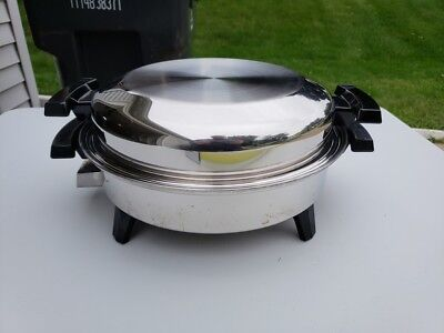 """AMERICAN ROYALTY Liquid Core Stainless Steel Electric 12"""" Skillet Cookware BOX"""