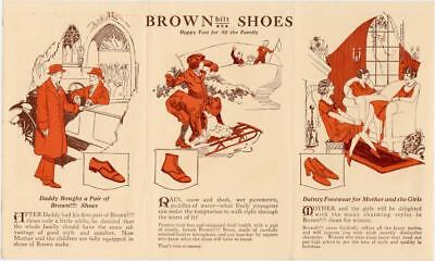 Early 1900's Buster Brown  Brown Built Shoes Tri-Fold Advertising Brochure NOS