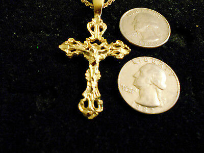 bling gold plated religious CHURCH cross crucifix pendant charm hip-hop NECKLACE