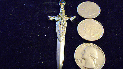 bling pewter mason MYTH celt DRUID sword pendant charm hip hop necklace JEWELRY