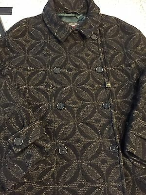 New Max Mara Weekend Vintage Style Two Tone Double Breasted Coat