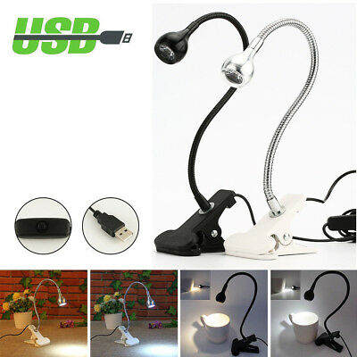 3W Flexible Clip-on Table Lamp LED Clamp Reading/Study/Bed/Laptop/Desk Light