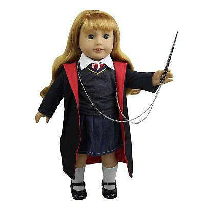 """8X Harry Potter Hogwarts Outfits Handmade dress Clothes Shoes for 18"""" Girl Doll"""