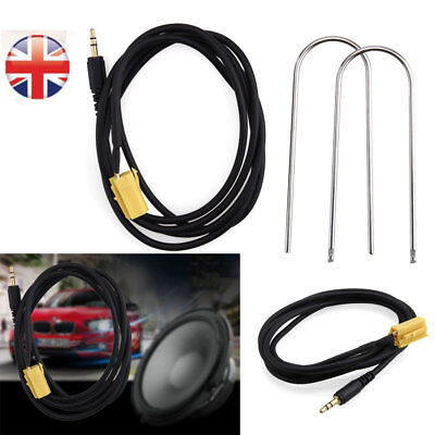 For Fiat Grande Punto AUX input 3.5mm jack lead cable adapter With Radio Keys PK