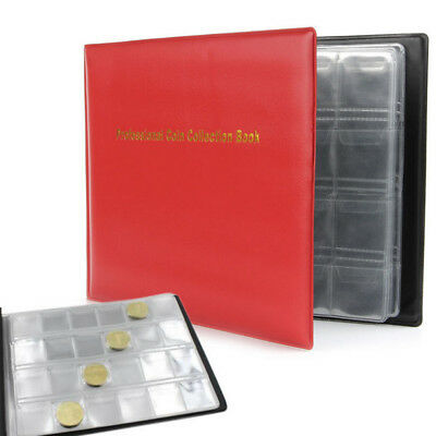 NEW 240 Collection Storage Penny Pockets Money Album Book 10 Pages Coin Holders