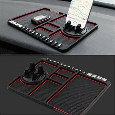 Large In Car Non Slip Mobile Phone Smartphone Key Sticky Holder Pad Mat GPS BS