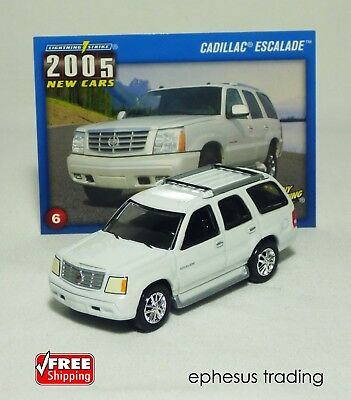 Johnny Lightning Strike 2005 Cadillac Escalade SUV Truck White #6 GMT 1/64 MINT!