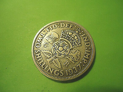 1937 English Two Shillings Coin  **50% Silver Content**  >> Combined Shipping <<