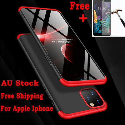 360° Tough PC Cover Shockproof Slim Hard Case For iPhone X XR XS MAX 7 8 6S Plus