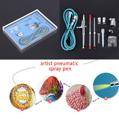 0.2 0.3 0.5mm Air Brush Dual Action Spray Gun Airbrush Kit Nail Tattoos Beauty