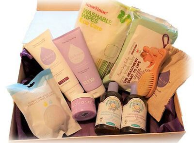 Snuggly Natural Vegan Baby Products Pamper Hamper Gift FREE P&P