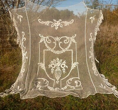 Antique French Filet Lace Bedspread
