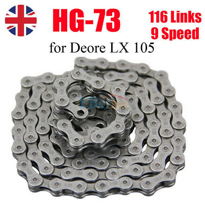 New 9 Speed MTB Bicycle Bike Chain for Shimano SRAM Campagnolo 116 Links UK