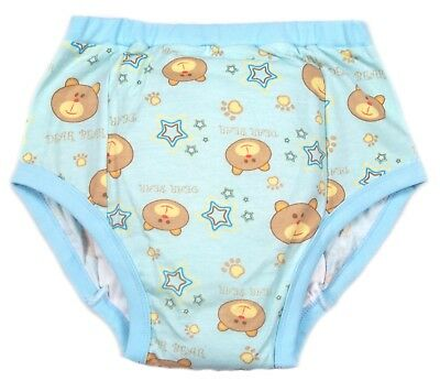 adult Dear Bear baby blue  training diaper incontinence pants autistic