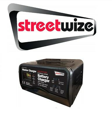 CLEARANCE Streetwize 12v - 6/12 Amp Battery Charger & 75 Amp Start SW75JS