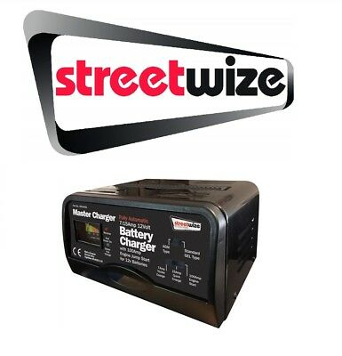 Streetwize 12v 7/15 Amp Auto Car Battery Charger & 100 Amp Engine Start SW100JS