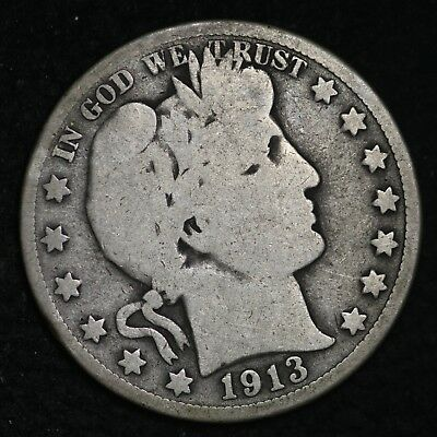 1913 Barber Half Dollar CHOICE G+/VG FREE SHIPPING E357 HH