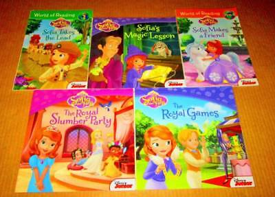 SOFIA Lot of 5 -SOFTCOVERS Reading Books/Leveled Readers/DISNEY JR-Royal Games,.