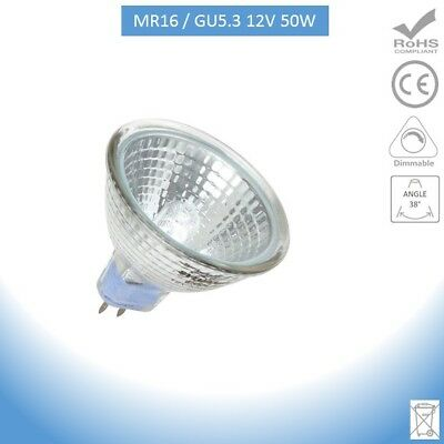 10 x MR16 GU5.3 12V  Halogen Bulbs   50W