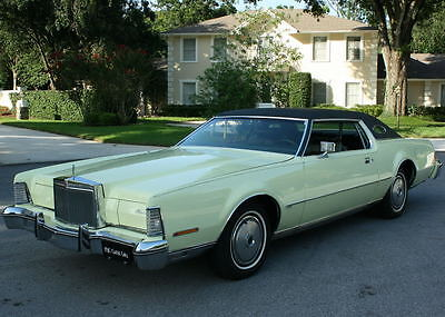 1974 Lincoln Mark Series IV COUPE - RARE COLOR - 48K MI OUTSTANDING LUXURY EXAMPLE - 1974 Lincoln Mark IV Coupe-  48K ORIG MI