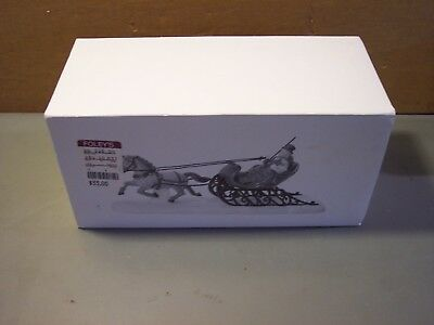 "Dept. 56 Heritage Village Collection  ""dashing Through The Snow""    New 5820-3"