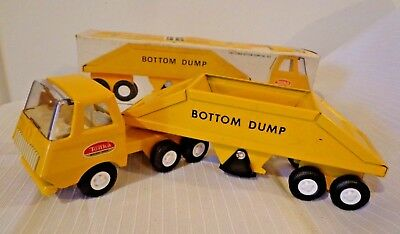 Vintage 1960s Tiny Tonka Bottom Dump Truck No. 655 100% Complete w Box Minty!