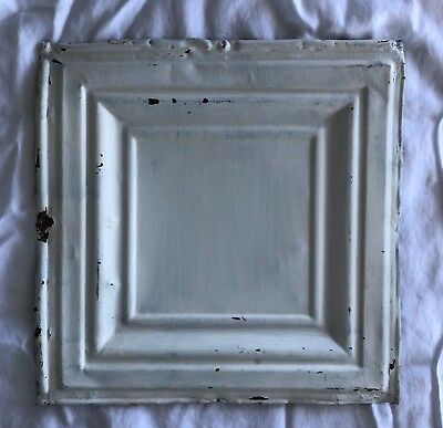 1890's 12 x 12 Antique Tin Ceiling Tile white Metal Reclaimed Anniversary 531-18
